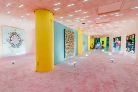 Psychedelic Culture Exhibits - 'Spaced Out' Pays Tribute to Psychedelic Art with a Vibrant Interior