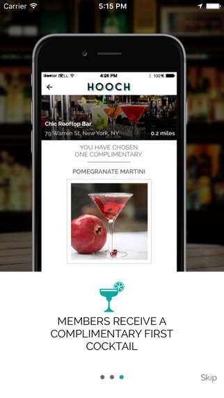 Members-Only Drinking Apps - 'Hooch' is a Cocktail App That Gives Members One Free Drink Per Day
