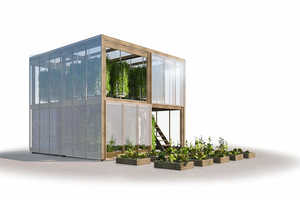 This Flatpack Urban Farm is Housed Inside a Shipping Container