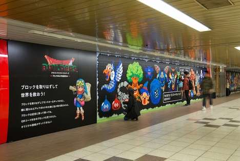 Building Block Billboards - This Playful Subway Advertising Stunt Turns Commuters into Builders