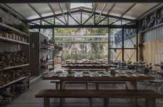 Communal Dining Greenhouses - The Campobaja Restaurant Offers Industrial Dining in Mexico City