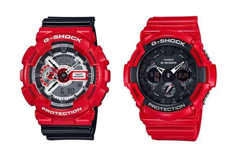 Romanticized Shock-Resistant Watches - G-SHOCK is Releasing Two Red Watches for Valentine's Day