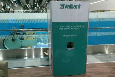 Smile-Powered Drink Machines - This Vending Machine from Vaillant Gives Drinks When Smiles are Seen