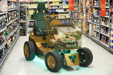 Supermarket Beer Brand Stunts - This Carlsberg Stunt Sent an Electric Cart Around This Grocery Store