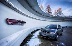 Crossover Vehicle-Inspired Bobsleds - The Nissan X-Trail Bobsleigh Draws Inspiration from Cars