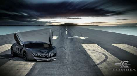 Jet-Inspired Sports Cars - The Elibriea Sports Car Concept Looks Ready to Take Off