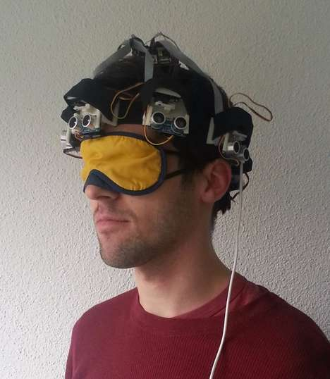 Navigational Mobility Masks - The 'Proximity Hat' Provides Pressure Feedback to Guide the Wearer