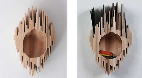 Arboreal Organization Racks - The Hollow Tree Wall Rack Copies the Natural Aesthetic of a Tree