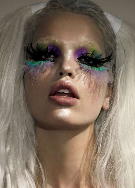 Exaggerated Manga Makeup - Vogue Japan's 'Manga Mirror' Series Features Superstar Daphne Groeneveld