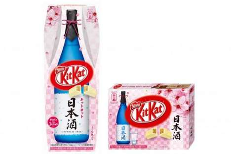 Japanese Booze-Infused Candies - The Latest KitKat Candy Bar is Flavored with Japanese Sake