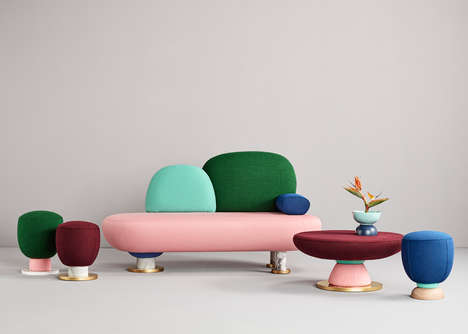 Toadstool-Shaped Furniture Collections - The New Pieces from Masquespacio are Inspired by Toadstools