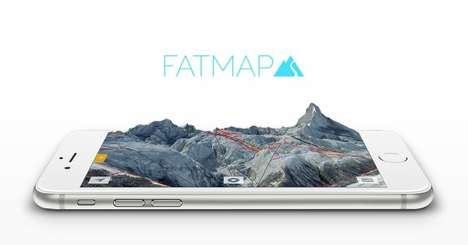 Mobile 3D Ski Maps - The FATMAP Smartphone Application Enables Skiers to Plan Their Adventures