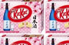 Rice Wine Chocolate Wafers - The Sake Kit Kat Flavor Offers a Boozy Japanese Flavor