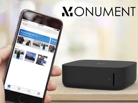 AI Photography Storage - The Monument Photo Management Device is Powered by Artificial Intelligence