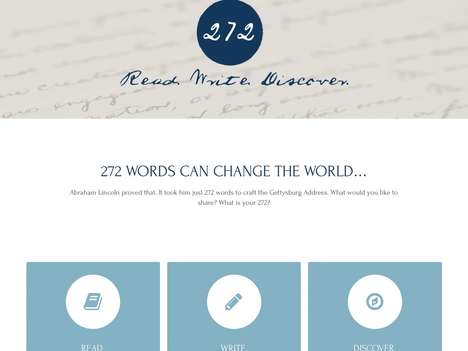 Wordsmith Social Networks - The 272 Words of the Gettysburg Address Inspired This Social Media Site