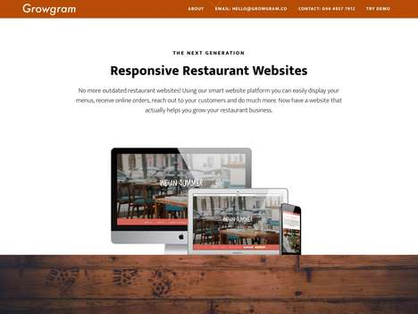 Restaurant Management Platforms - SaaS Startup Growgram Builds Responsive Restaurant Websites