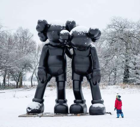 Giant Sad Sculptures - The Yorkshire Sculpture Park KAWS Collection is Emotionally Large