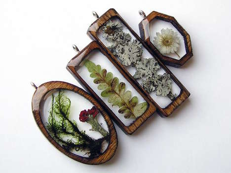 Foraged Forest Jewelry - Erin LaRocque Creates Delicate Eco-Friendly Pendants