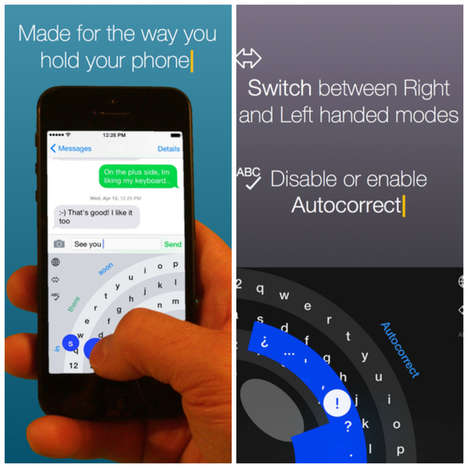 One-Handed Keyboards - This iPhone Keyboard Application Lets You Comfortably Type With One Hand
