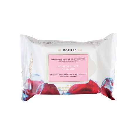Pomegranate Makeup Wipes - The Pomegranate Cleansing Wipes from Korres are All-Natural