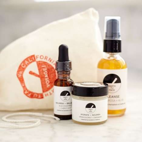 Earthy Skincare Travel Sets - The Voyage! Travel Kit from Earth Tu Face is Good Enough to Eat