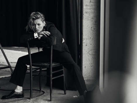 Candid Menswear Portraitures - Kate Model Teams Up with Peter Lindbergh to Sport Masculine Fashion
