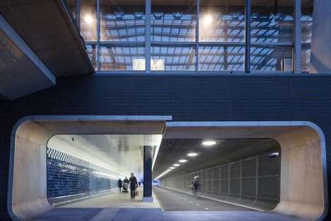 Partitioned Tunnel Designs - This Urban Underpass Accommodates Both Pedestrians and Cyclists