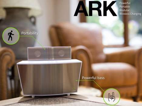 Detachable Subwoofer Speakers - The Cowin Ark is a Compact Portable Speaker with a Modular Design