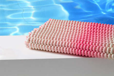 Crocheted Silicone Carpets - Shore's Waterproof Rugs are Designed for Outdoor Use