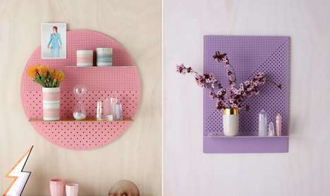 Practical Perforated Shelves - 'The Mesh Series' by Bride & Wolfe is Stores Plants or Small Objects