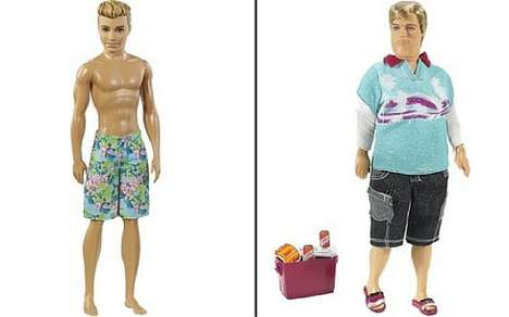 Realistic Male Dolls - The Dad Bod Ken is in Response to the Latest Line of Barbies