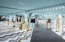 Candy-Striped Fashion Floors - The Women's Floor at Tokyo's Seibu Has Been Overhauled by Nendo