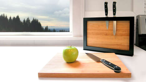 Magnetic Cutting Equipment Sets - The iLoveHandles 'Chops' Offers a Cutting Board Storage Solution