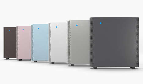 Comprehensive Air Cleaners - The Blueair 'Sense' Room Air Purifier Removes Germs and Viruses