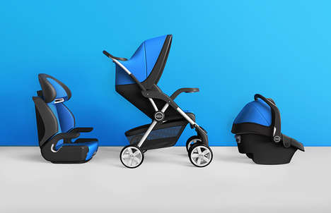 Sleek Modern Strollers - This Collection of Graco Infant Strollers Imagines a New Brand Direction