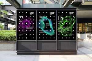 This Karaoke Bar Branding Features Vibrant Geometrical Imagery