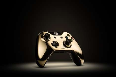 Gilded Gaming Controllers - These 24 Carat Gold Game Controllers Bring Luxury to Gaming