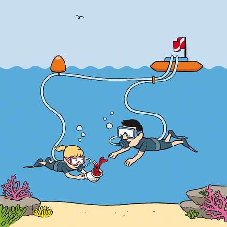 Safety Scuba Leashes - The Snorkel Dive Makes Scuba Diving Safer For Children