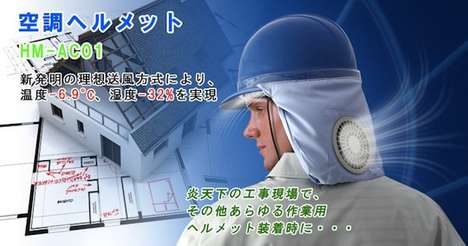 Air-Conditioned Hat Designs - The Kuchofuku Helmet is Outfitted with an Internal Air Conditioner