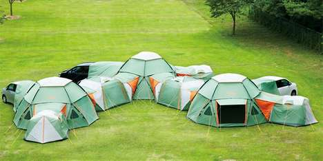 Oversized Compound Tents - The Logos Decagon Link Station is a Car Tent with Modular Abilities