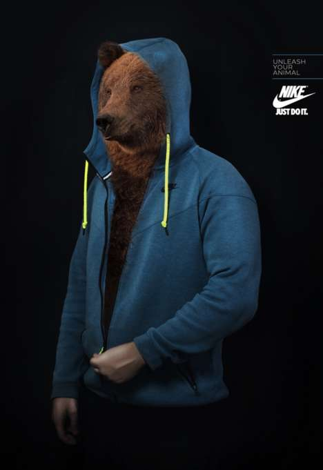 Inner Beast Sportswear Ads - The Nike Unleash Your Animal Campaign is Fiercely Motivating