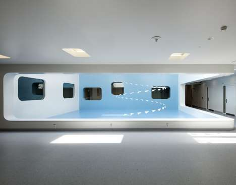 Futuristic Hospital Extensions - Lausanne's Centre of Oncology Renovation References Retro Futurism