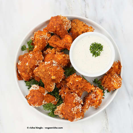 Meatless Barbecue Cauliflower Wings - This Vegan Chicken Wings Recipe Swaps Poultry for Vegetables