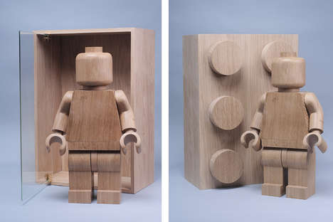 Wooden LEGO Figurines - These Building Block Toys are Recreated Using Rustic Wood