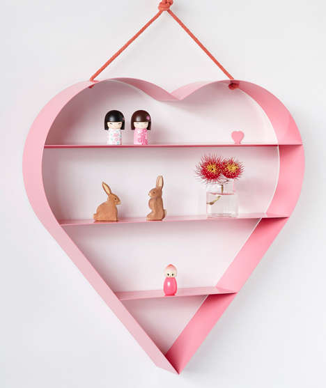 Romantic Storage Units - Bride & Wolfe's Heart Shelves are Inspired by Valentine's Day