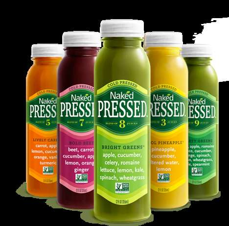 Sugarless Cold Pressed Juices - The Naked Juices Offer Full Health Benefits Without Preservatives