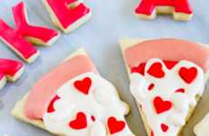 Romantic Pizza Pun Cookies - These Pizza Pie Biscuits Spell Out 'Take a Little Piece of My Heart'
