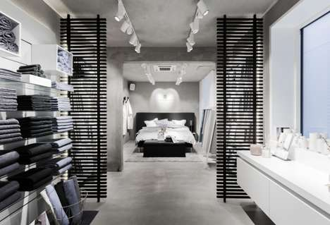 Hybrid Web-Shops Boutiques - This Georg Jensen Damask Store Showcases the Brand's Product Range
