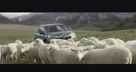 Animal Choir Commercials - This Super Bowl Ad Pairs the Honda Ridgeline with Singing Sheep