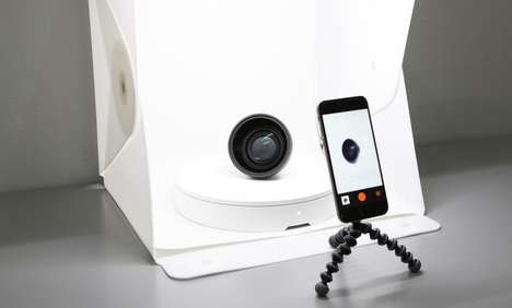 Rotating Photography Accessories - The 'Foldio360' Enables 360 Images to be Easily Captured